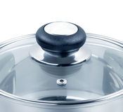 Glass lid on a pot Royalty Free Stock Photography