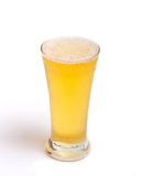 Glass of light. Beer isolated on a white background Stock Image