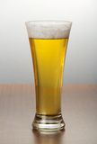 Glass of light amber beer Royalty Free Stock Photos
