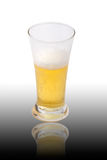 Glass of light beer. Isolated on a white background Stock Photo