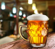 Glass of light beer Stock Image