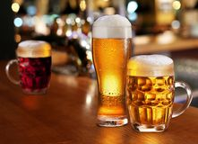 Glass of light beer. Royalty Free Stock Image
