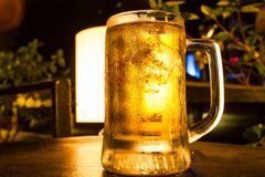 Glass of light beer Stock Photography