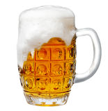 Glass of light beer foam Royalty Free Stock Image