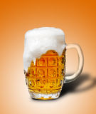 Glass of light beer foam Royalty Free Stock Photos