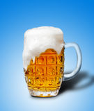Glass of light beer foam Stock Photos