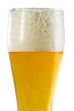 Glass of light beer with foam Stock Photography