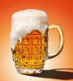 Glass of light beer foam Royalty Free Stock Photography