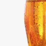 Glass of light beer (fragment) Stock Photo