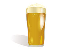 A glass of  Light beer. Invitation to the St. Patrick`s Day. Royalty Free Stock Image