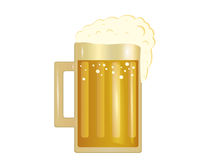 A glass of  Light beer. Invitation to the St. Patrick`s Day. Stock Photo