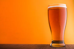 Glass of light beer Royalty Free Stock Images