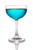Glass of light blue cocktails Stock Photography