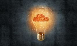 Eco innovations concept by means of lightbulb. royalty free stock photography