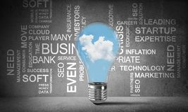 Effective business innovations for world. royalty free stock photos