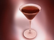 Glass in lights 2. Glass of wine in red atmosphere Stock Photography
