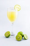 Glass of lime juice Stock Photo