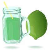 Glass limefruktfruktsaft Royaltyfria Foton