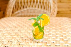 Glass of limonade on the table Royalty Free Stock Photos