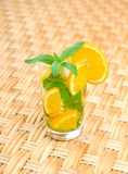 Glass of limonade on the table Stock Photos