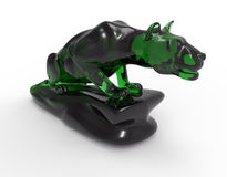 Glass lioness sculpture Stock Photo