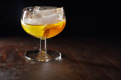 Glass with liqueur Royalty Free Stock Images