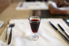 Glass of liqueur Stock Photo