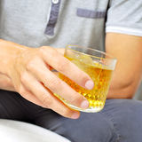 Glass of liquor Royalty Free Stock Images