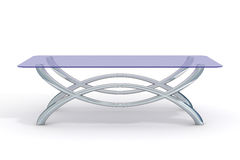 Glass little table on a white background. Royalty Free Stock Photos