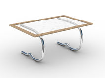Glass little table on a white background. Royalty Free Stock Image