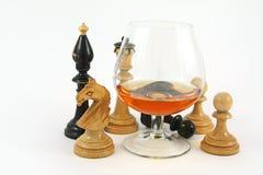 glass livstid för cognac fortfarande Royaltyfri Fotografi