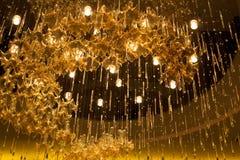 Glass ljuskrona Arkivfoto