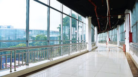 Glass lobby  of modern builing Royalty Free Stock Photos