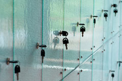 Glass Lockers Stock Photography