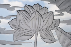 Glass lotus Royalty Free Stock Images