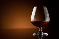 Glass of luxury cognac with copy space royalty free stock photos