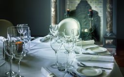 Glass on luxury table Royalty Free Stock Photography
