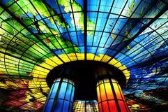 Glass mästerverk på taket av den Meilidao stationen i Kaohsiung, Taiwan Royaltyfri Foto