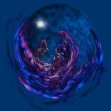 glass magisk orb Arkivbilder