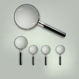 Glass Magnifying Lens. Vector of Glass Magnifying Lens Stock Photography