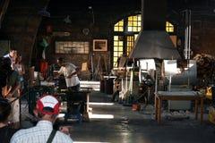 Glass making artisan. Royalty Free Stock Images