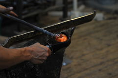 Glass making factory Royalty Free Stock Image