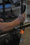 Glass making factory Stock Images