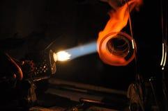 Glass making Stock Photo