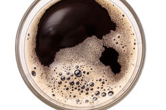 Glass of malt beer. Close up of a glass of malt beer, top view Royalty Free Stock Photos
