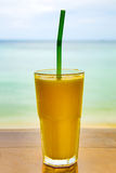 Glass of  mango juice Stock Images