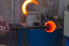 Glass manufacturing Stock Image