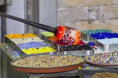 Glass manufacturing Stock Images
