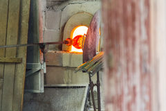 Glass manufacturing Royalty Free Stock Photography