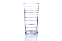 Glass with many levels of water. Multiply image Stock Photography